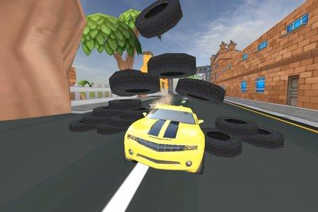 Трюки на мультяшной машине